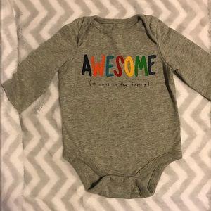 Baby Gap Long Sleeve Onesie 3/6 Months